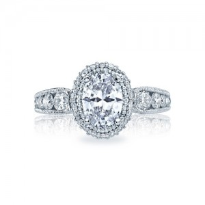 HT2521OV8X6 Tacori Crescent 18 Karat Engagement Ring