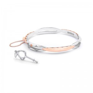 SB191P-M Tacori Promise Bracelet Oval Rose Gold and Silver