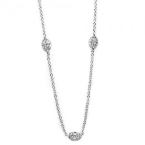 Tacori Diamond Necklace Platinum Fine Jewelry FC106-24