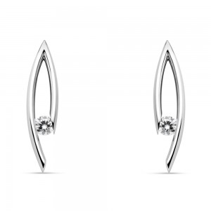 Kretchmer Platinum Drop Tension Set Earrings