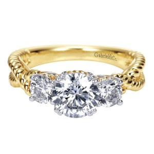 Gabriel 14 Karat Contemporary Engagement Ring ER5368M43JJ