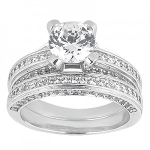 Taryn Collection Platinum Diamond Engagement Ring TQD A-708