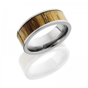 Lashbrook HW8F16/TAMARIND POLISH Hard Wood Wedding Ring or Band