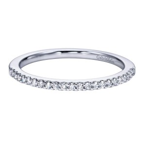 Gabriel 14 Karat Contemporary Wedding Band WB6557W44JJ
