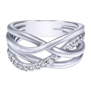 Gabriel Fashion Silver Contemporary Ladies' Ring LR50466SVJWS
