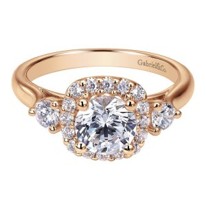 Gabriel 14 Karat Contemporary Engagement Ring ER7510K44JJ
