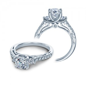Verragio Platinum Couture Engagement Ring Couture-0397