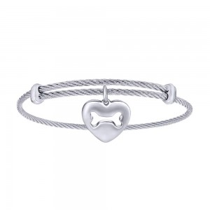 Gabriel Fashion Silver Two-Tone Soho Bangle Bracelet BG3575MXJJJ