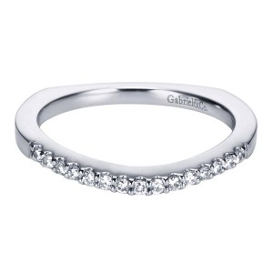 Gabriel 14 Karat Contemporary Wedding Band WB6567W44JJ