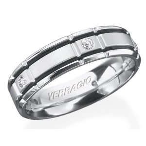 Verragio Platinum In-Gauge Diamond Wedding Band RUD-6964
