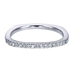 Gabriel 14 Karat Contemporary Wedding Band WB6565W44JJ