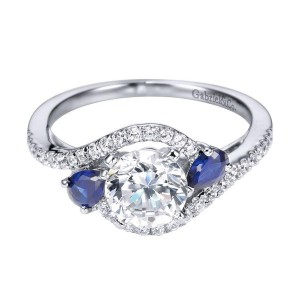 Gabriel 14 Karat Contemporary Engagement Ring ER5331W44SA