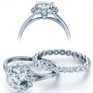 Verragio Platinum Couture Engagement Ring Couture-0356