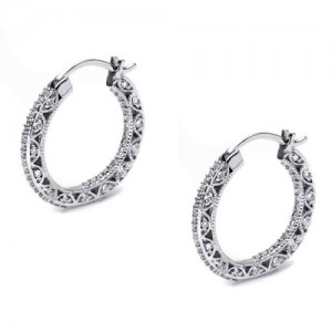 Tacori Diamond Earrings Platinum Fine Jewelry FE595