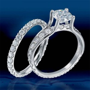 ENG-0349 Verragio Platinum Classico Engagement Ring