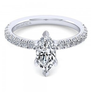 Gabriel 14 Karat Marquise Shape Diamond Engagement Ring ER13904M4W44JJ