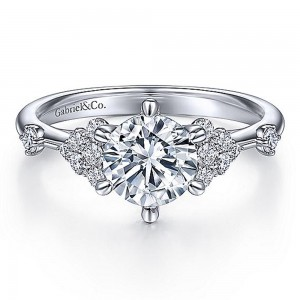 Gabriel 14 Karat Round Diamond Engagement Ring ER15193R4W44JJ