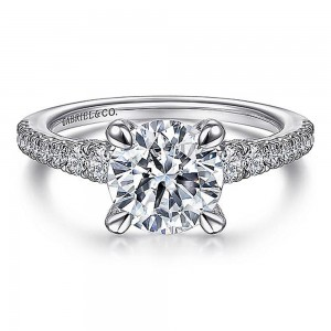 Gabriel 14 Karat Round Diamond Engagement Ring ER15249R6W44JJ