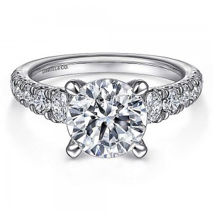 Gabriel 14 Karat Round Diamond Engagement Ring ER15250R8W44JJ
