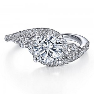 Gabriel 14 Karat Round Diamond Engagement Ring ER15259R4W44JJ