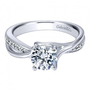 Gabriel - Aleesa 14 Karat Round Twisted Engagement Ring ER11094W44JJ