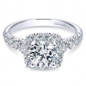 Gabriel - Beckett 14 Karat Round Halo Engagement Ring ER10909W44JJ