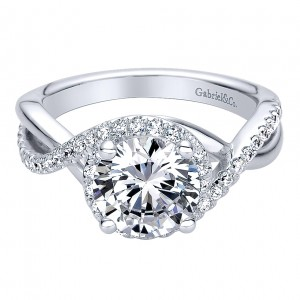 Gabriel - Courtney 14 Karat Round Twisted Engagement Ring ER9339W44JJ