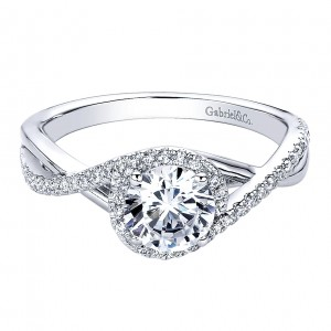 Gabriel - Courtney 14 Karat Round Twisted Engagement Ring ER9503W44JJ
