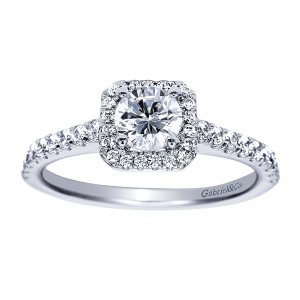 Gabriel - Margot 14 Karat Round Halo Engagement Ring ER8264W44JJ