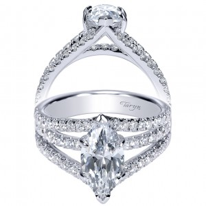 Taryn 14k White Gold Marquise Split Shank Engagement Ring TE8902W44JJ