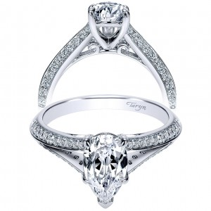 Taryn 14k White Gold Pear Shape Split Shank Engagement Ring TE8927W44JJ