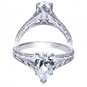 Taryn 14k White Gold Pear Shape Split Shank Engagement Ring TE9042W4JJJ