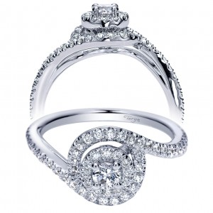 Taryn 14k White Gold Round Double Halo Engagement Ring TE98638W44JJ