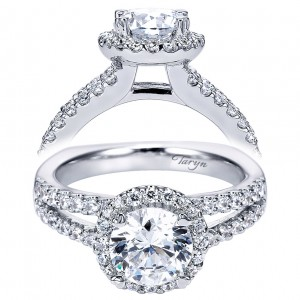 Taryn 14k White Gold Round Halo Engagement Ring TE6410W44JJ