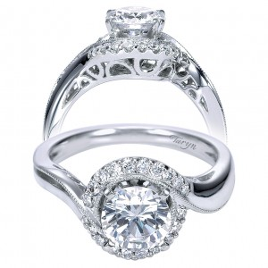 Taryn 14k White Gold Round Halo Engagement Ring TE7714W44JJ