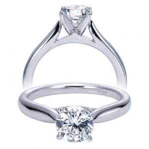 Taryn 14k White Gold Round Solitaire Engagement Ring TE7894W4JJJ