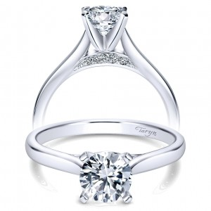 Taryn 14k White Gold Round Solitaire Engagement Ring TE8012W44JJ