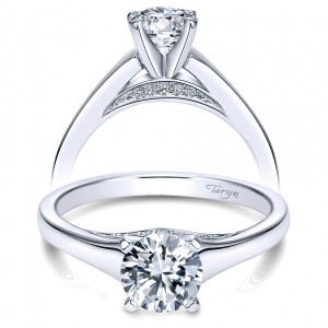 Taryn 14k White Gold Round Solitaire Engagement Ring TE8013W44JJ