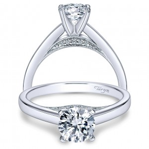 Taryn 14k White Gold Round Solitaire Engagement Ring TE8034W44JJ