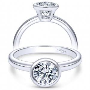 Taryn 14k White Gold Round Solitaire Engagement Ring TE8077W4JJJ