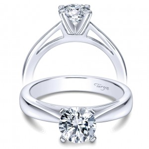 Taryn 14k White Gold Round Solitaire Engagement Ring TE8132W4JJJ