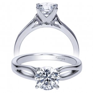 Taryn 14k White Gold Round Solitaire Engagement Ring TE8133W4JJJ