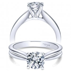 Taryn 14k White Gold Round Solitaire Engagement Ring TE8134W4JJJ