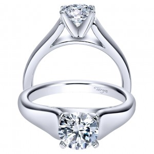 Taryn 14k White Gold Round Solitaire Engagement Ring TE8138W4JJJ
