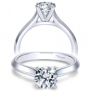 Taryn 14k White Gold Round Solitaire Engagement Ring TE8177W4JJJ