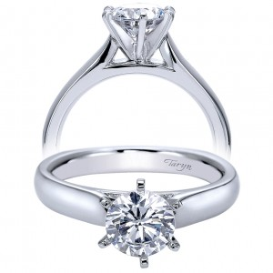 Taryn 14k White Gold Round Solitaire Engagement Ring TE8180W4JJJ