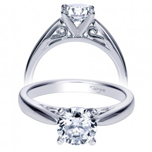 Taryn 14k White Gold Round Solitaire Engagement Ring TE8293W4JJJ