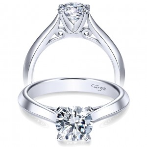 Taryn 14k White Gold Round Solitaire Engagement Ring TE8296W4JJJ