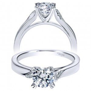 Taryn 14k White Gold Round Solitaire Engagement Ring TE8881W44JJ