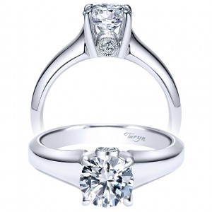 Taryn 14k White Gold Round Solitaire Engagement Ring TE9031W44JJ